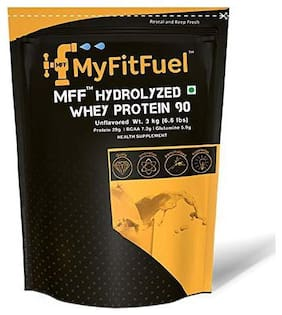 MyFitFuel Hydrolyzed Whey Protein - 3 kg (6.6 lbs) Unflavored 90 Servings