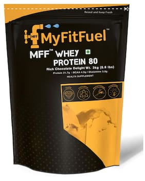 MyFitFuel Whey Protein 80 3 kg (6.6 lb) 90 Servings Rich Chocolate Delight