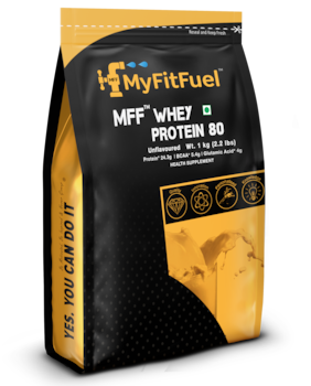 MyFitFuel Whey Protein 80 (1 KG) 2.2 lbs Unflavored