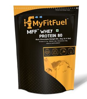 MyFitFuel Whey Protein 80 |2 kg| (4.4 lb) Rich Chocolate Delight