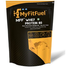 MyFitFuel MFF Whey Protein 80 (0.99 kg (2.2 lb)) 30 Servings Rich Chocolate Delight