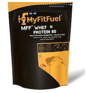 MyFitFuel Whey Protein 80 (1 kg (2.2 lb)) 30 Servings Rich Chocolate Delight