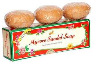 Mysore Sandal Bathing Soap - Superior with Pure Sandalwood Oil 150 g (Pack Of 3)