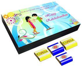 Mystik Happy Raksha Bnadhan - Rakhi Knotting 12 Pc Chocolate Gift- For Brother/For Sister