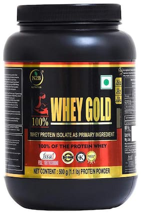 N2B NUTRITION 100% WHEY GOLD WHEY PROTEIN ISOLATE AS PRIMARY INGREDIENT 500g