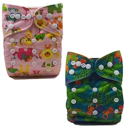 Nabhasya Ease Living Cloth Diapers No Insert Animal Planet (Pack Of 2)