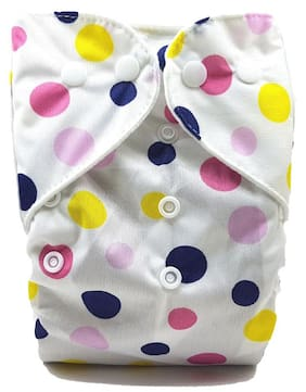Nabhasya Ease Living, Cloth Diaper-Pink Polka Dots-New Born