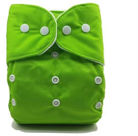 Nabhasya Ease Living Solid Color Cloth Diaper (No Insert)-Green
