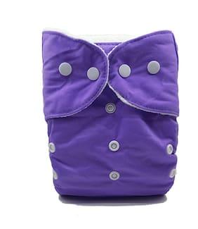 Nabhasya Ease Living Solid Color Cloth Diaper (No Insert)-Purple