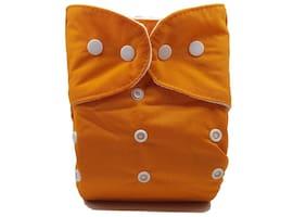 Nabhasya Ease Living Solid Color Cloth Diaper (No Insert)-Orange
