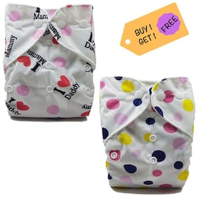 Nabhasya Ease Living Polka Dot and Mumma Dadda Love Cloth Diaper