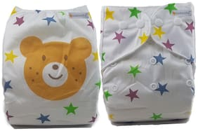 Nabhasya Ease Living Classic Reusable Pocket Baby Cloth Diaper Pack of 1 (No Insert) - Star Bear