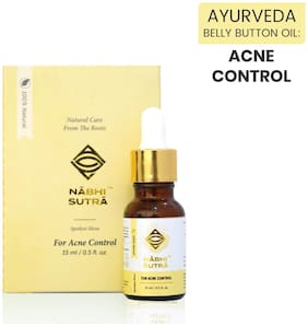 Nabhi sutra Acne Pimple Scar Spots Control & Removal Oil With Neem And Peppermint Oil-15ml