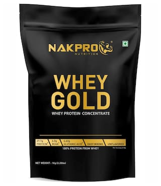 Nakpro Gold Whey Protein Concentrate 80% (Raw;Pure;asitis;Unflavored USA made);500 g each (Pack of 2)