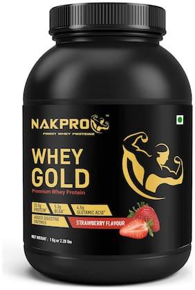 Nakpro Gold 100% Whey Protein Supplement Powder Strawberry 1Kg