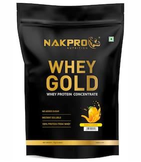 Nakpro Gold 100% Whey Protein Supplement Powder Mango 1Kg