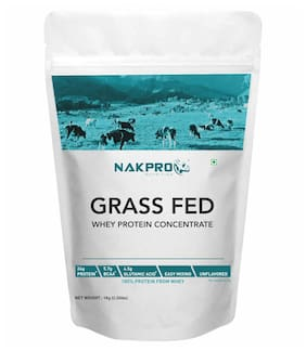 NAKPRO Grass Fed Whey Protein Concentrate 80%, Pure, Raw Whey Protein 1kgSupplement Protein Powder, UK made - Unflavoured
