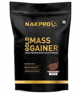 Nakpro Sports Gold Mass Gainer Protein Powder Supplement Chocolate 1kg