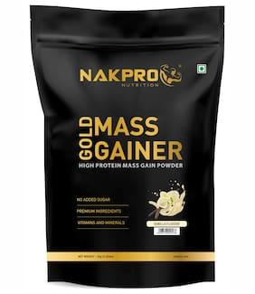Nakpro Sports Gold Mass Gainer Protein Powder Vanilla 1Kg