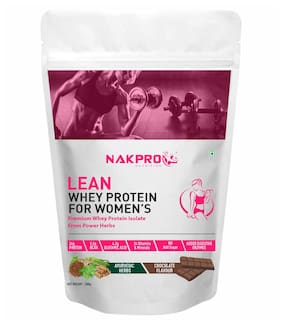 NAKPRO Women's Whey Protein Powder for Women with Ayurvedic Herbs - No Added Sugar, Ideal for weight loss & slim body, Keto Friendly (Chocolate 500g)