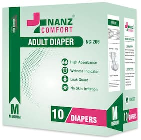 Nanz Comfort Adult Unisex Diapers Medium Size 10  Diaper