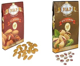 Nap Premium Quality Almonds & Pistachios (400 g Each)