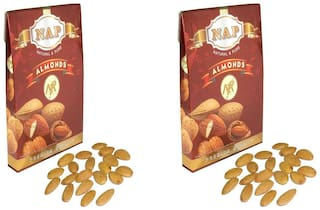 Nap Premium Quality Almonds Pack Of 2 (400 g Each)