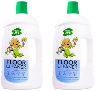 Natural Life Baby Floor Cleaner, Eco friendly Baby Safe, Helps 99.9% protection from germs, virus, fungi & bacteria, 975 ml (Pack of 2)_1