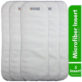 Natural Micro Fiber Cotton Baby Cloth Diaper Insert -Pack of 5