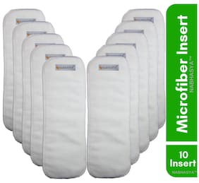 Natural Micro Fiber Cotton Baby Cloth Diaper Insert -Pack of 10