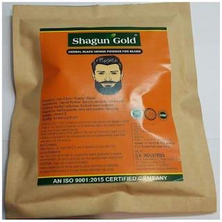 Natural Organic Henna Beard powder black dye for men 200 Gram