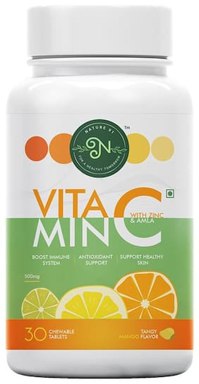 Nature 91 Vitamin C with Zinc Tangy Mango Flavour (30 Tablets) (Pack Of 1)