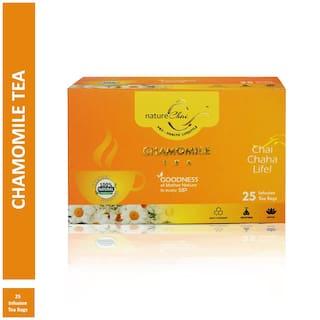 Nature Chai Chamomile Green Tea - 25 Tea Bags (Pack of 1)