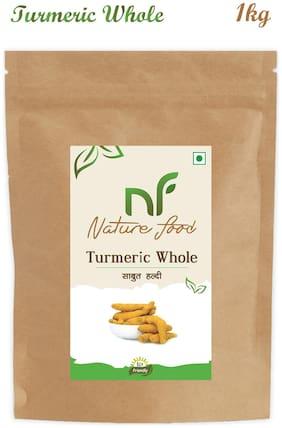 Nature Food Good Quality Whole Turmeric / Sabut Haldi Pack of 1 (1kg x1)