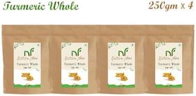 Nature Food Good Quality Whole Turmeric / Sabut Haldi Pack of 4 (250g x4)