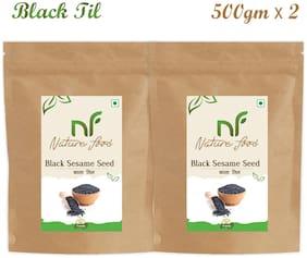 Nature Food Good Quality Black Sesame Seed / Black Til Pack of 2 (500 g Each)