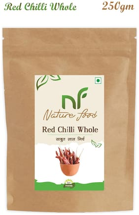 Nature Food good Quality Whole Red Chilli / Sabut Lal Mirchi 250 g