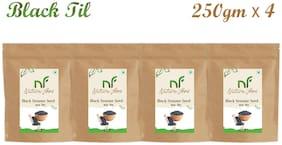 Nature Food Good Quality Black Sesame Seed / Black Til Pack of 4 (250 g Each)
