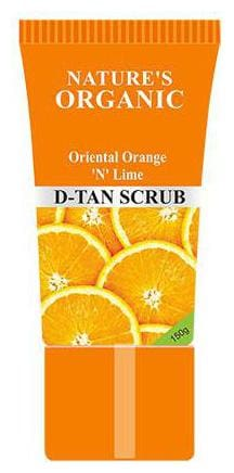 Natures Organics Oriental Orange N Lime D-Tan Scrub 150 gm