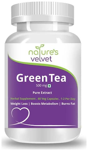 Natures Velvet Lifecare Green Tea Pure Extract 500 mg 60 Capsules