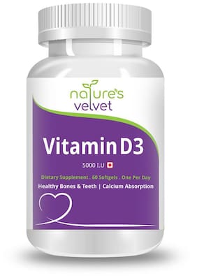 Natures Velvet Lifecare Vitamin D-3 5000 I.U 60 Softgels