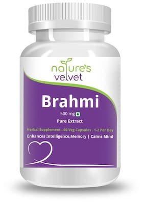 Natures Velvet Lifecare Brahmi Pure Extract 500Mg 60 Capsules