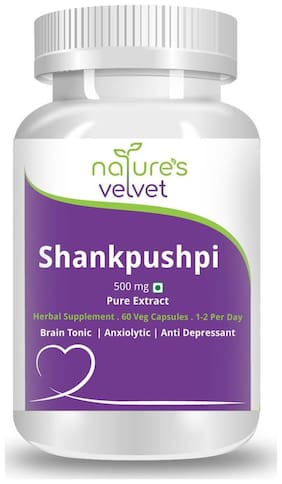 Natures Velvet Lifecare Shankpushpi Pure Extract 500Mg 60 Capsules