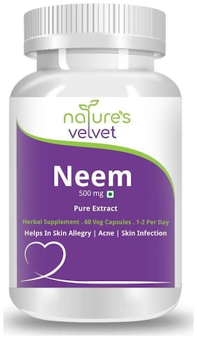 Natures Velvet Lifecare Neem Pure Extract 500Mg 60 Capsules
