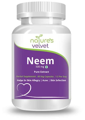 Natures Velvet Lifecare Neem Pure Extract 500Mg 60 Capsules