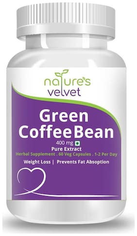 Natures Velvet Lifecare Green Coffee Bean Pure Extract 400 mg 60 Veggie Capsules