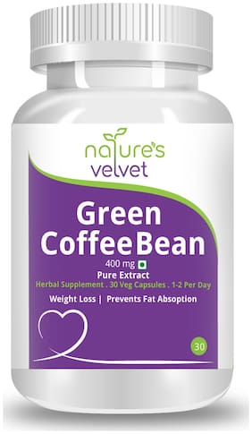 Natures Velvet Lifecare Green Coffee Bean Pure Extract 400 mg;30 Veggie Capsules - Pack of 1