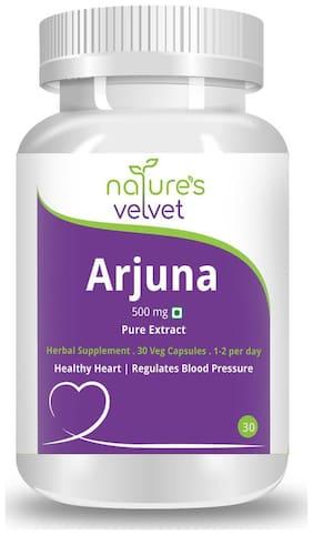 Natures Velvet Lifecare Arjuna Pure Extract 500 mg;30 Veggie Capsules - Pack of 1