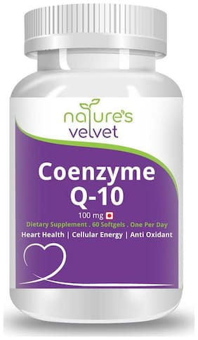 Natures Velvet Lifecare Coenzyme Q-10 100 mg 60 Softgels
