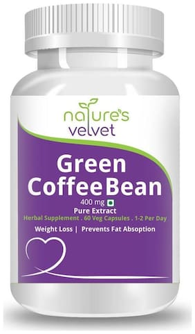 Natures Velvet Lifecare Green Coffee Bean Pure Extract 400 mg 60 Capsules